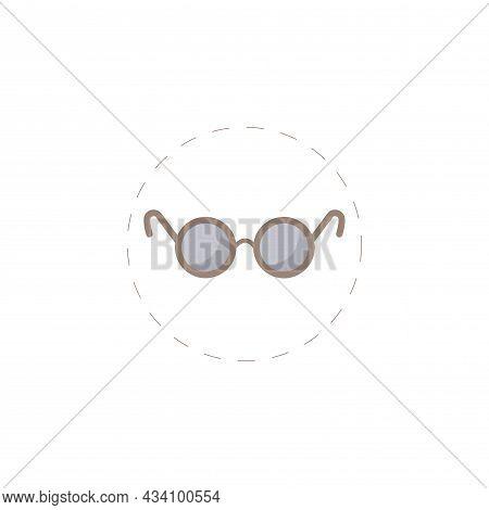 Glasses Vector Colorful Clipart. Eye Glasses Flat Illustration.