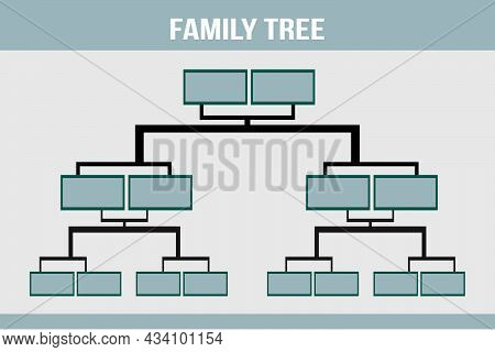Family Tree Info-graphic Vector Illustration. Genealogical Concept.