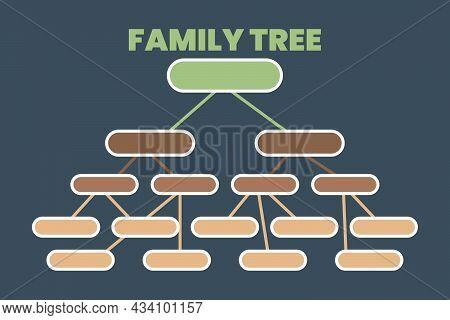 Family Tree Vector Graphics Illustration. Genealogy Concept.