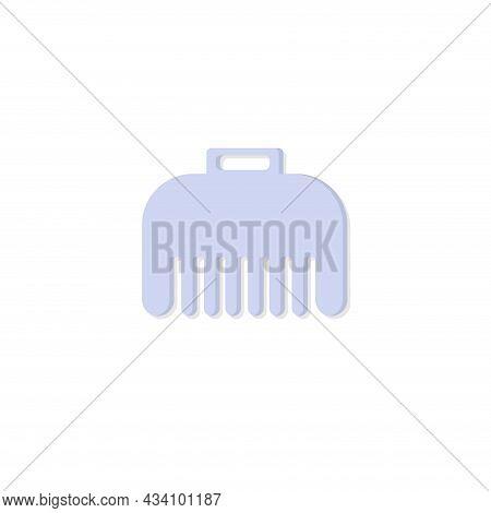 Hair Clamp Vector Colorful Clipart. Hair Clamp Flat Illustration