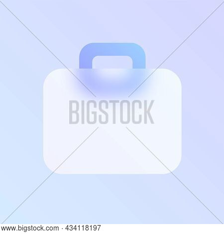 Case Glass Morphism Trendy Style Icon. Case Transparent Glass Color Vector Icon With Blur And Purple