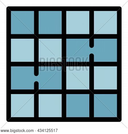 Square Paving Icon. Outline Square Paving Vector Icon Color Flat Isolated