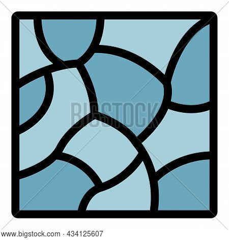 Stone Paving Icon. Outline Stone Paving Vector Icon Color Flat Isolated