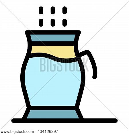 Traditional Tea Cup Icon. Outline Traditional Tea Cup Vector Icon Color Flat Isolated