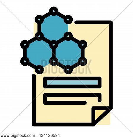 Science Reporter Paper Icon. Outline Science Reporter Paper Vector Icon Color Flat Isolated