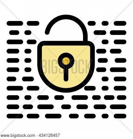 Unlocked Fraud Security Icon. Outline Unlocked Fraud Security Vector Icon Color Flat Isolated