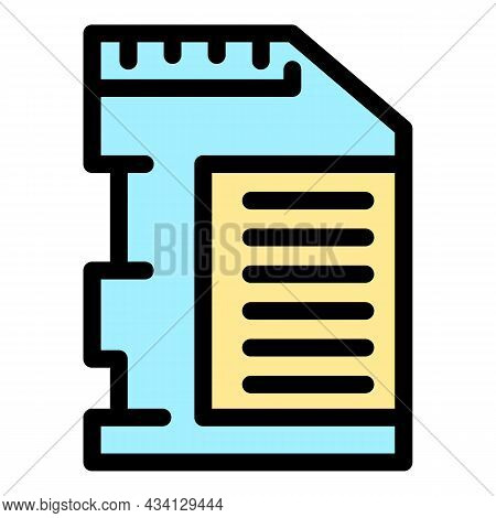 Modern Data Storage Icon. Outline Modern Data Storage Vector Icon Color Flat Isolated