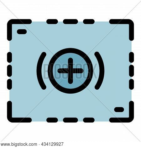 Camera Record Frame Icon. Outline Camera Record Frame Vector Icon Color Flat Isolated