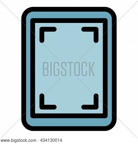 Screen Record Tablet Icon. Outline Screen Record Tablet Vector Icon Color Flat Isolated