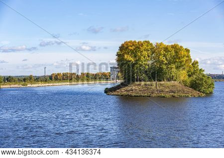 Old Gateway On The Volga River Near The City Of Uglich, Russia