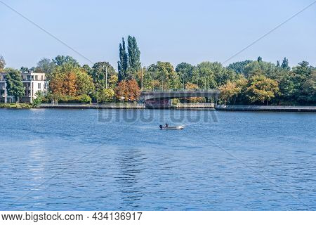 Berlin, Germany - September 6, 2021: Dammbruecke Or Dam Bridge, A Prestressed Concrete Bridge With A