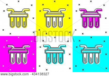 Set Water Filter Icon Isolated On Color Background. System For Filtration Of Water. Reverse Osmosis