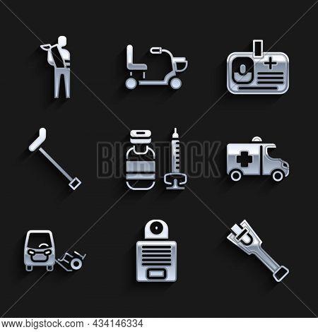 Set Syringe, Intercom, Prosthesis Leg, Emergency Car, Disabled, Walking Stick Cane, Identification B