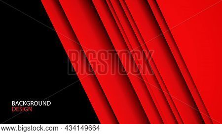 Red Abstract Background Design, Geometric Texture Vector Can Be Used In Cover Background, Banner, Fl