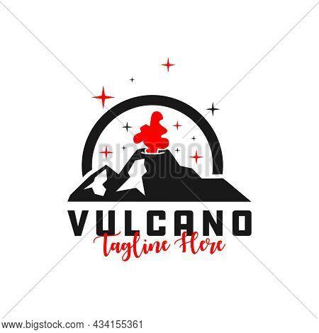 Erupting Volcano Inspiration Illustration Logo Design Your Company