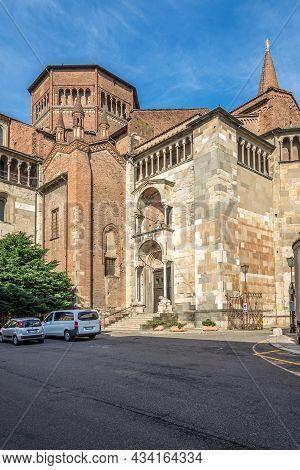 Piacenza, Italy - June 28,2021 - View At The Cathedral Of Santa Maria Assunta And Santa Giustina In
