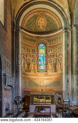 Piacenza, Italy - June 28,2021 - View At The Interior Of Cathedral Of Santa Maria Assunta And Santa