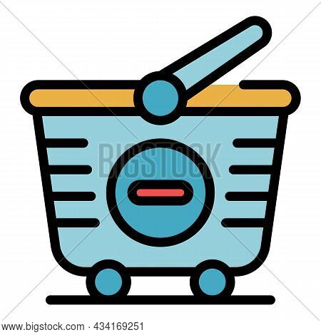 Remove From Cart Icon. Outline Remove From Cart Vector Icon Color Flat Isolated
