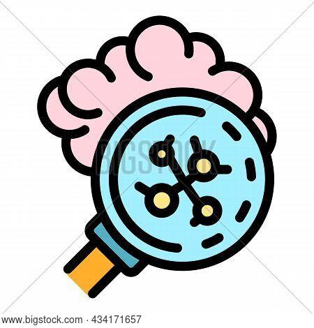 Inspect Coronavirus Icon. Outline Inspect Coronavirus Vector Icon Color Flat Isolated
