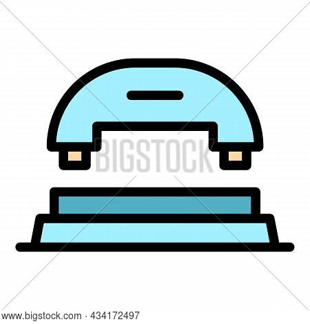 Puncher Front View Icon. Outline Puncher Front View Vector Icon Color Flat Isolated