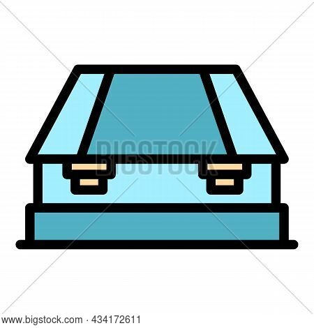 Mechanical Hole Punch Icon. Outline Mechanical Hole Punch Vector Icon Color Flat Isolated