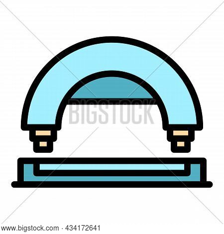 Arc Hole Punch Icon. Outline Arc Hole Punch Vector Icon Color Flat Isolated