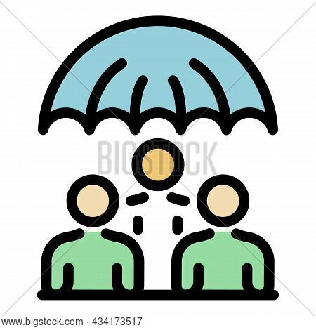 Crisis Manager Protection Icon. Outline Crisis Manager Protection Vector Icon Color Flat Isolated