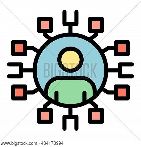 Restructuring Scheme Icon. Outline Restructuring Scheme Vector Icon Color Flat Isolated