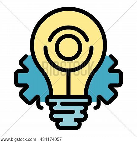 Restructuring Idea Icon. Outline Restructuring Idea Vector Icon Color Flat Isolated