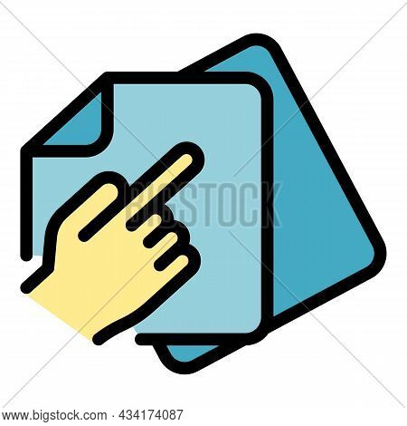 Refer Restructuring Icon. Outline Refer Restructuring Vector Icon Color Flat Isolated