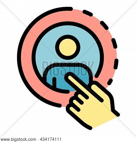 Avatar Restructuring Icon. Outline Avatar Restructuring Vector Icon Color Flat Isolated