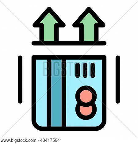 Insert Credit Card Icon. Outline Insert Credit Card Vector Icon Color Flat Isolated