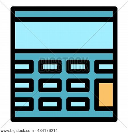 Calculating Device Icon. Outline Calculating Device Vector Icon Color Flat Isolated