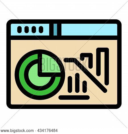 Web Page Trader Icon. Outline Web Page Trader Vector Icon Color Flat Isolated
