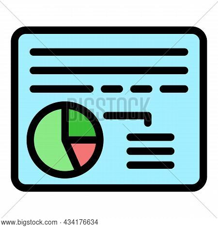 Broker Web Page Icon. Outline Broker Web Page Vector Icon Color Flat Isolated