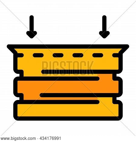Box Animal Trap Icon. Outline Box Animal Trap Vector Icon Color Flat Isolated