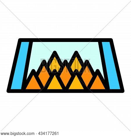 Bear Animal Trap Icon. Outline Bear Animal Trap Vector Icon Color Flat Isolated