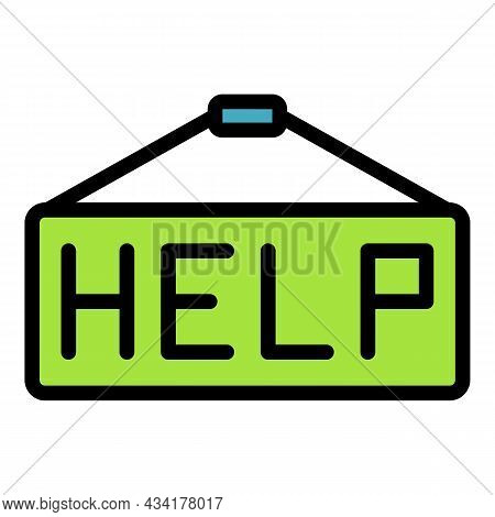 Help Climate Immigrants Icon. Outline Help Climate Immigrants Vector Icon Color Flat Isolated