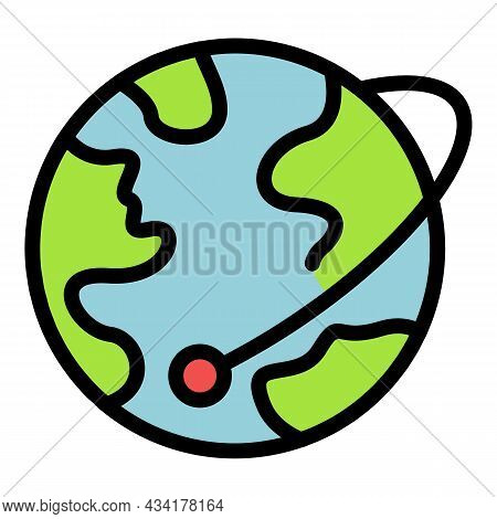 Global Illegal Immigrants Icon. Outline Global Illegal Immigrants Vector Icon Color Flat Isolated