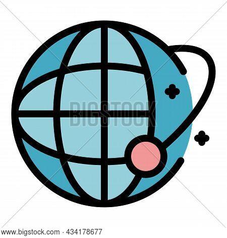 Global Crisis Immigration Icon. Outline Global Crisis Immigration Vector Icon Color Flat Isolated