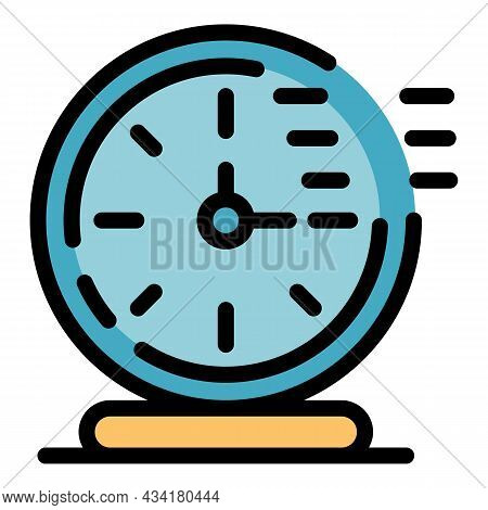 Timer Clock Stopwatch Icon. Outline Timer Clock Stopwatch Vector Icon Color Flat Isolated
