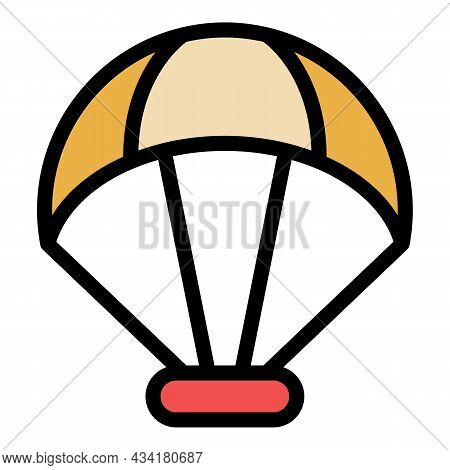 Play Sport Parachute Icon. Outline Play Sport Parachute Vector Icon Color Flat Isolated