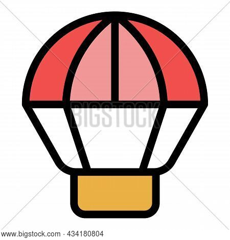 Extreme Parachute Icon. Outline Extreme Parachute Vector Icon Color Flat Isolated