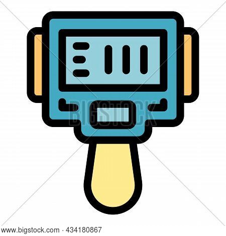 Camera Thermal Imager Icon. Outline Camera Thermal Imager Vector Icon Color Flat Isolated