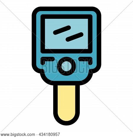 Electronic Thermal Imager Icon. Outline Electronic Thermal Imager Vector Icon Color Flat Isolated