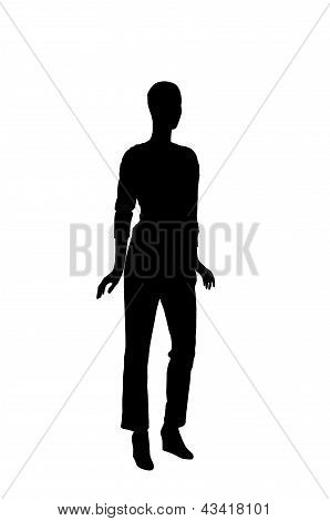 Fashion Dummy Silhouette (black Shadow Isolated In White Background)