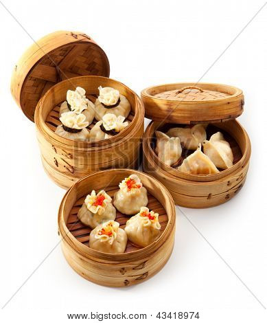 Various Dim Sum in Bamboo Steamed Bowl poster