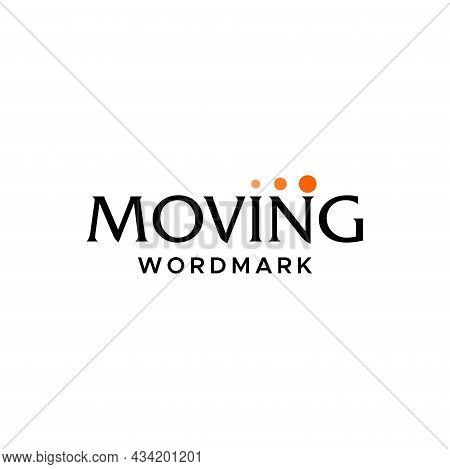 Clean And Unique Design Wordmark About Moving. Eps 10, Vector.