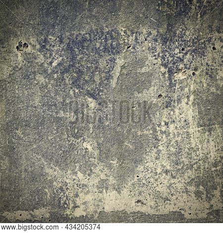 Abstract Background. Texture Of An Old Wall With An Attractive Design.