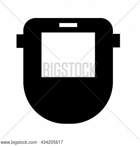 Construction Tools Icon On White Background. Protective Welding Mask Sign. Welder Mask Symbol. Flat